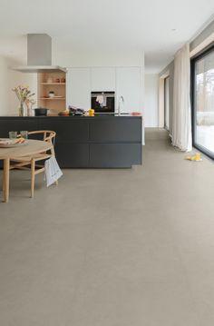 Home Living Room, Kitchen Space, Home Decor, Marmoleum, Home Kitchens, Flooring, Flooring Inspiration, Kitchen Layout, Marmoleum Floors