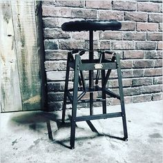 1920s style Industrial Stool|BACKDROP Leathers