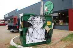 Wheat Paste Graffiti in Oklahoma City's Paseo Arts District