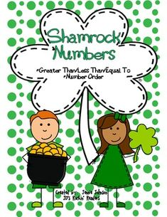 St. Patrick's Day Number Ordering and Greater than/Less than - JD's Rockin' Readers - TeachersPayTeachers.com