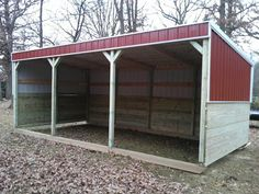 lean to horse shelter kit | Horse Shelters, Horse Barns, Horse Enclosures, Run-in Shelters