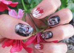 Unhas de Drácula para o Halloween http://vilamulher.terra.com.br/unhas-de-halloween-para-amar-2-1-13-1106.html #halloween