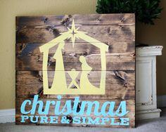 christmas pure & simple nativity