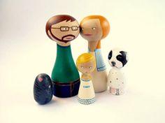 Familia personalizada de madera en Regalos para bebes, niños y niñas