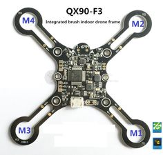 DIY QX90-F3 integrated indoor  brush quadcopter frame Integrated F3-EVO brush FC, Receiver, buzzer, LED #Affiliate