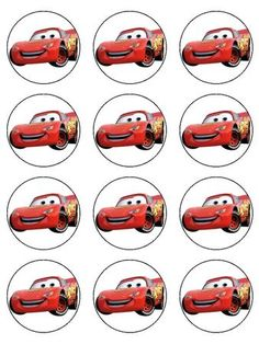 CARS LIGHTNING MCQUEEN EDIBLE CUPCAKE IMAGES
