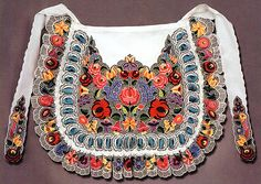Hungarian embroidered apron from Kalocsa, Bács-Kiskun county, Hungary Polish Embroidery, Hungarian Embroidery, Hand Embroidery Patterns, Embroidery Art, Folk Costume, Costumes, Hungarian Dance, Embroidered Apron, Ethnic Design