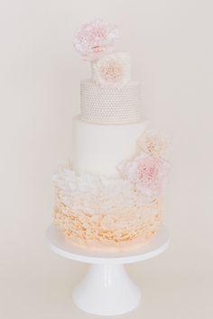 Whimsical ruffle wedding cake   see more on: http://burnettsboards.com/2015/02/wedding-planning-tips-pros/