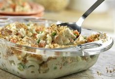 Super Chicken Casserole- Make it quickly, make it ahead, whatever works for you. This flavorful casserole has protein, starch and vegetables all in one-dish. It's a terrific weeknight dinner that has a tasty surprise ingredient - stuffing.