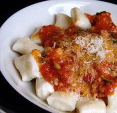 Ricotta Gnocchi with Tomato Pesto. Pretty tasty and easy to make.