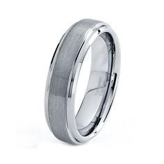 Tungsten Wedding Band Wedding Bands Men Tungsten by GiftFlavors