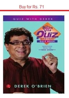 Buy Bournvita Quiz Contest Quiz Book with internet banking, credit card, debit card or cash on delivery option. Packed with questions from the first two seasons, the Bournvita Quiz Contest Quiz Book contains over 500 questions that will test your knowledge.