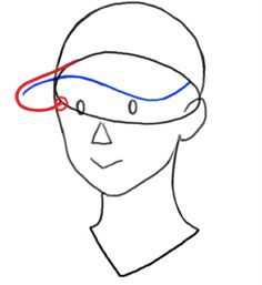 帽子構造 描き方 イラスト  Drawing Baseball cap illustration