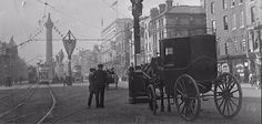years gone by. Old Pictures, Old Photos, Vintage Photos, Irish Independence, Irish Eyes, Old Photographs, Horse Drawn, Belfast, Dublin