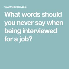 """Here are a few that are considered """"red flag words"""" by interviewers. Avoid these because these words don't do you any favors. Job Resume, Resume Tips, Resume Ideas, Job Interview Tips, Interview Questions, Job Interviews, Best Resume Format, Job Hunting Tips, Job Info"""