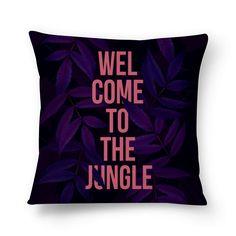 Almofada Welcome to the jungle de @janainamonteiro | Colab55