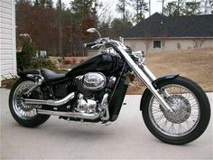 2003 Honda Shadow Spirit 750 Right view. Annnnd the bike I got instead so i could selflessly take my kids to Disney and Disney Cruise.