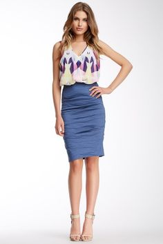 Textured Skirt by Nicole Miller on @HauteLook