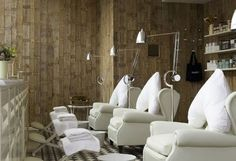 Cowshed Spa - poltrona frau chairs