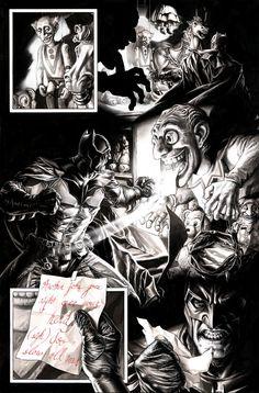 Bruises and Black Eyes, Batman page by Lee Bermejo