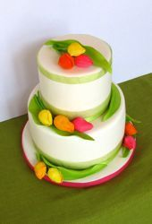 Sugar Tulip Wedding Cake