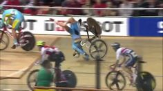 OUCH! Spectacular track crashes. WATCH THE VIDEO: .   #cycling #crash #track #velodrome #fixedgear #splinters