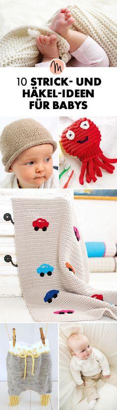 10 Strick- und Häkel-Ideen für Babys via Makerist.de