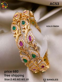Gold Ring Designs, Gold Bangles Design, Gold Jewellery Design, Real Gold Jewelry, Fancy Jewellery, Temple Jewellery, Stylish Jewelry, Jewelry Design Earrings, Gold Earrings Designs