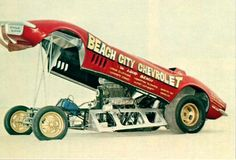 Beach City Chevrolet Funny Car in the sand Cool Car Pictures, Car Photos, Vintage Humor, Vintage Cars, Drag Racing, Auto Racing, Plastic Model Cars, Drag Cars, Car And Driver
