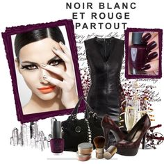 Vampy Nails by polybaby on Polyvore featuring мода, Alexander McQueen, Stuart Weitzman, Colette Malouf, Mineral and OPI