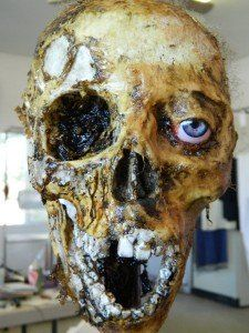 Get the party started !!  Halloween corpsed skull