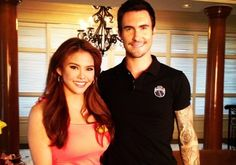 ABS-CBN Star Patroller Gretchen Fullido with Adam Levine. (Photo from Fullido's Instagram page)