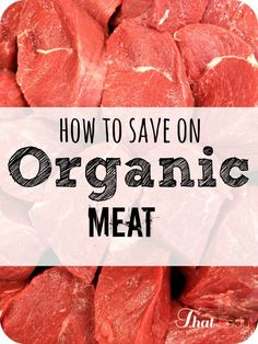 Are you looking to save money on your meat purchases?  See how to save on organic meat and get it for less than half the cost in the grocery store.