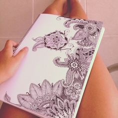 tropical-oceans: When you start drawing a flower and it ends up like this! :p
