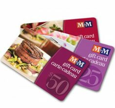 WIN 1 of 4 FREE $100 M&M Gift cards