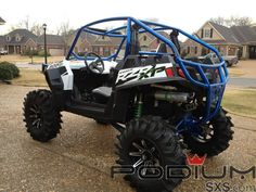 Polaris RZR XP 900 Custom Cage with front,rear bumpers - wall 1 DOM Roll Cage. Cage also includes front and rear bumpers. Atv Accessories, Four Wheelers, Polaris Rzr, Outdoor Toys, Go Kart, Toys For Boys, Cool Cars, Dream Cars, Jeep
