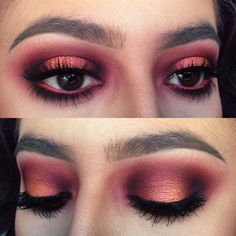 Burgundy halo eye