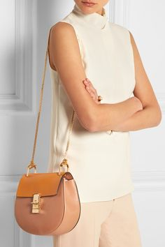 chloe textured leather day bag