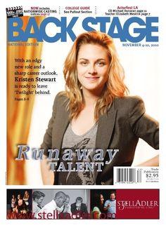 Kristen Stewart  Back Stage Magazine  November 2010