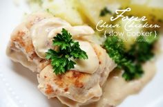 Four Cheese { Slow Cooker } Chicken ...yummy!
