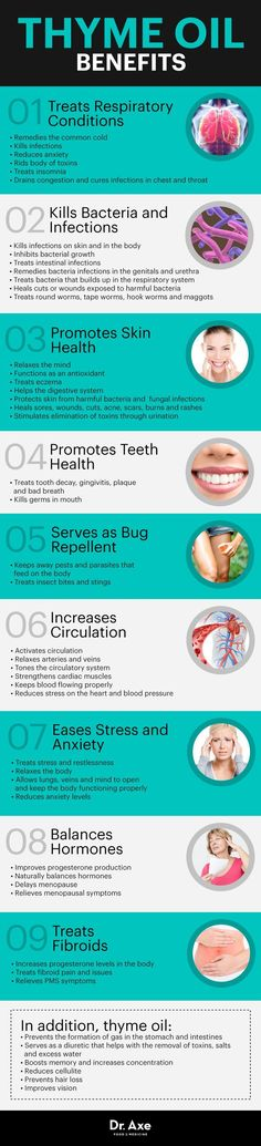 Thyme oil benefits - Dr. Axe www.draxe.com #health #holistic #natural
