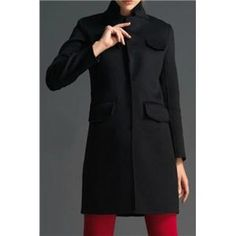 Coats - Pocketed Long Sleeves Slim Black Coat #Pariscoming #Paris #fallfashion #fallstyle #falltrends #fallingfor #fall #winterfashion #winterstyle #wintertrends #winterfor #winter #cardi #clothing #inspirational #fashionable #ontrend #stylist #Styling #StreetStyleSeason #streetstyle #fashionblog #fashiondiaries #fashiondiary #WearIt #WhatYouWear If you like,follow me back and find it on our online store.