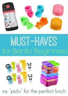 My kids love getting cute bento style lunches for school - best part they are actually easy to make when you have these must-haves for bento beginners! #lunchbox #bentobox #cutelunchideas