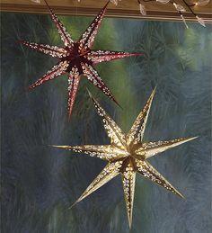 LED Paper Star Lantern, Wind & Weather