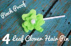 4 Leaf Clover Hair Pin