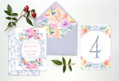 "Карточка на стол из коллекции ""Винтажное зеркало"" от Екатерины Савченко."