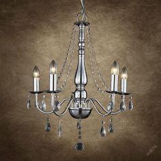 Elegantní křišťálový lustr   chrom
