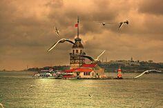 İstanbul+Kız+kulesi+kompozisyon