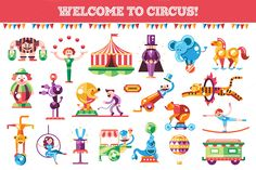 Welcome to Circus Icons Set by Decorwith.me Shop on Creative Market