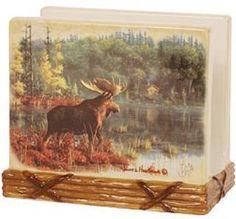 MOOSE Wildlife NAPKIN HOLDER Lodge Kitchen Decor by Blonder, $11.25